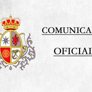 Coria del Río Comunicado Oficial